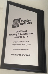 Mark Underwood Master Builders Gold Coast Housing and Construction Award
